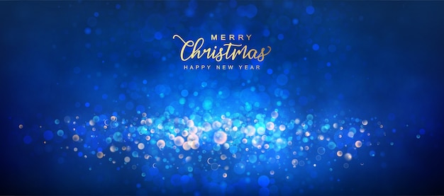 Merry christmas and new year abstract shining background