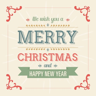 Merry christmas and new year background design