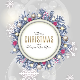 Merry christmas and new year background.