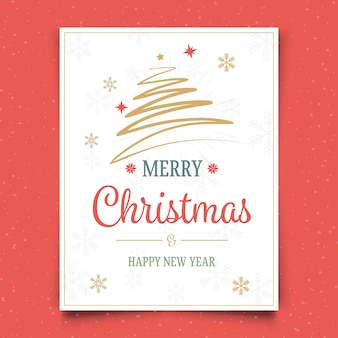 Merry christmas and new year card design