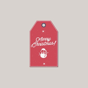 Merry christmas and new year gift tag.