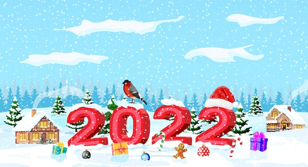 Merry christmas and new year holiday greeting card