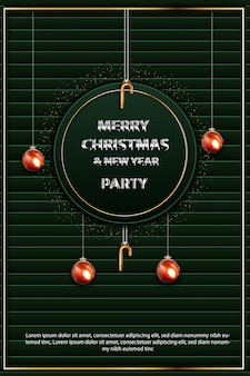 Merry christmas and new year party flyer
