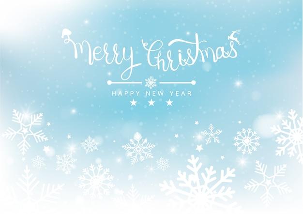 Merry christmas and new years blur bokeh