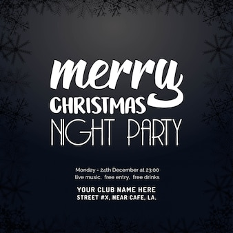 Merry christmas night party background