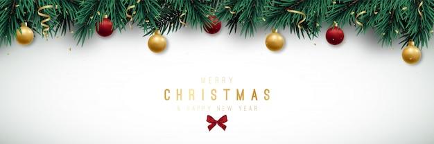 Merry christmas panoramic banner