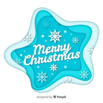 Merry christmas in paper style