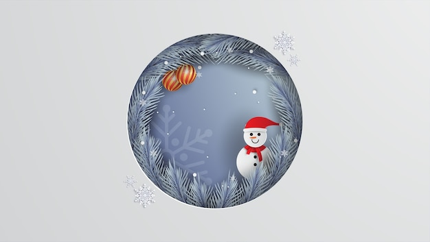 メリークリスマスペーパーカットスタイル