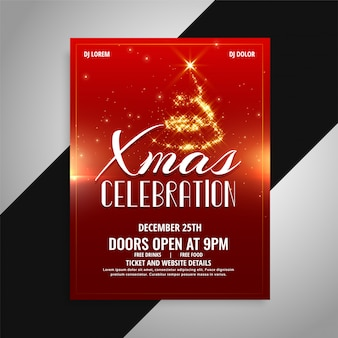 Merry christmas party celebration poster design