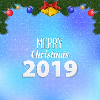 Merry christmas party greeting card  design
