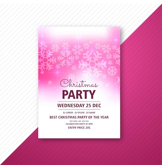 Merry christmas party poster flyer template
