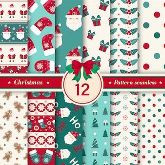 메리 크리스마스 패턴 완벽 한 컬렉션입니다.