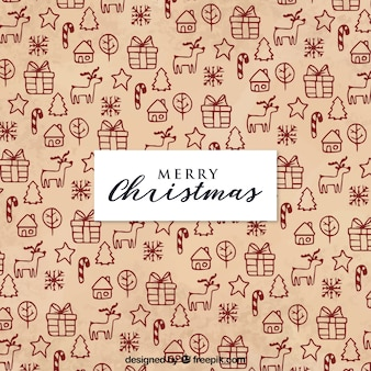 メリークリスマスの背景をパターン化