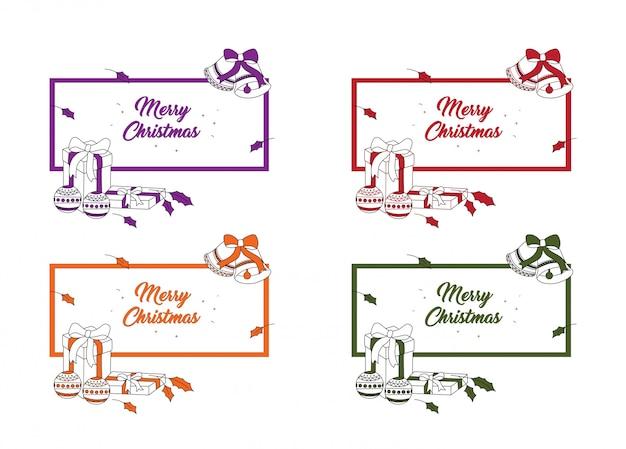 メリークリスマスのポストカード