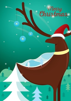С рождеством христовым дизайн плаката
