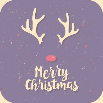 Merry christmas purple card
