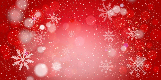 メリークリスマス現実的なクリスマスの赤い背景