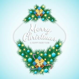 메리 크리스마스 현실적인 인사말 카드
