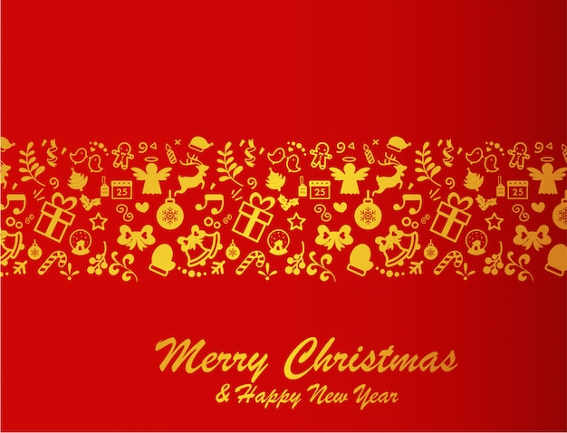 Merry christmas. red background a
