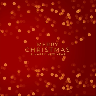 Merry christmas red festival bokeh background