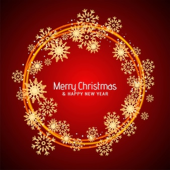 Merry christmas red greeting background