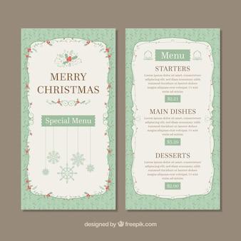 Merry christmas retro menu