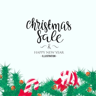 Merry christmas sale background. perfect decoration element for cards, invitations and others
