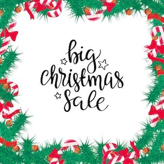 С рождеством христовым распродажа фон. идеальный элемент оформления для карточек, приглашений и других
