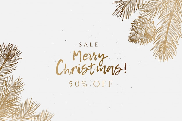 Merry christmas sale background