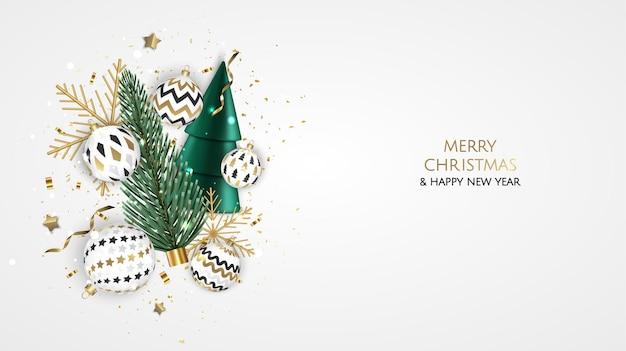 메리 크리스마스 판매 배너 템플릿입니다. 인사말 카드, 배너, 포스터, 웹사이트 헤더