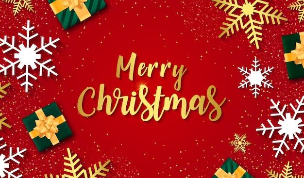 눈송이와 메리 크리스마스 판매 배너입니다. 승진 또는 크리스마스 쇼핑 템플릿입니다.