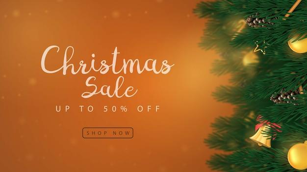 메리 크리스마스 판매 배너