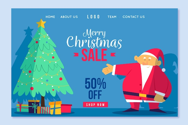 Merry christmas sale landing page