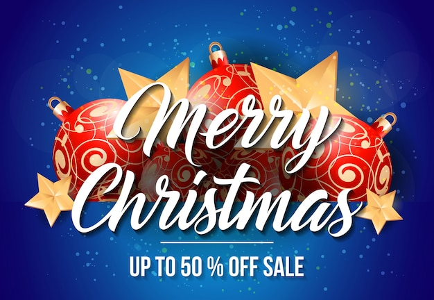 Merry christmas sale lettering