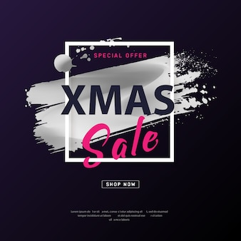 Merry christmas sale poster.