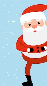Merry christmas santa claus character