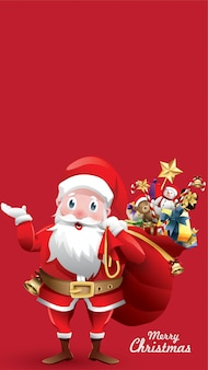 Merry christmas santa claus for copy space text, banner