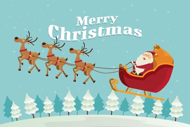 Merry christmas, santa claus