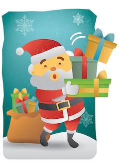 メリークリスマスサンタクロースのバランスギフト