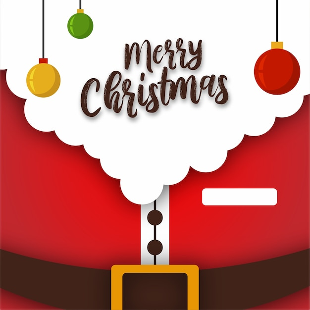 Merry christmas santa suit