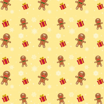 Merry Christmas. Seamless Cookie pattern.
