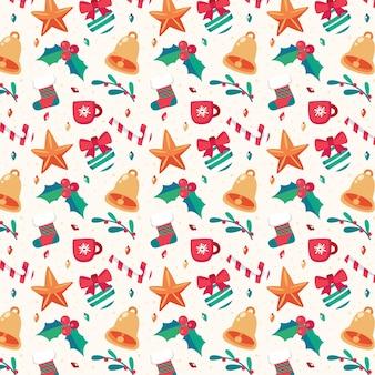 메리 크리스마스 원활한 패턴