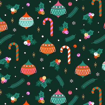 メリークリスマスのシームレスなパターン