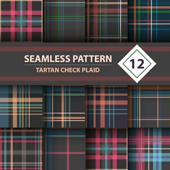 Merry christmas seamless patterns