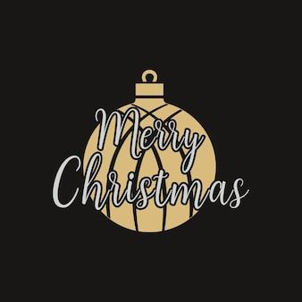 С рождеством христовым графический принт, дизайн футболки для рождественской вечеринки, cricut. праздничный декор с украшениями, мяч и рождественский текст - с рождеством. эмблема векторного.