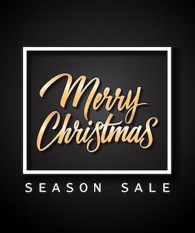 Buon natale stagione vendita lettering