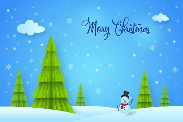 С рождеством христовым зимний фон