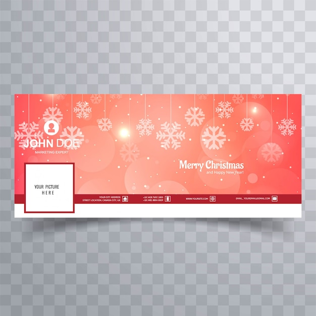 Merry christmas shiny snowflake banner template background