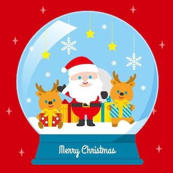 メリークリスマススノーボールグローブ