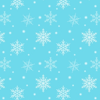 Merry christmas. snowflake pattern on a blue background